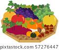秋天的味道:紅薯,栗子,橘子,梨,蘋果,草莓 57276447