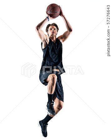 basketball player man isolated silhouette shadow 57276643