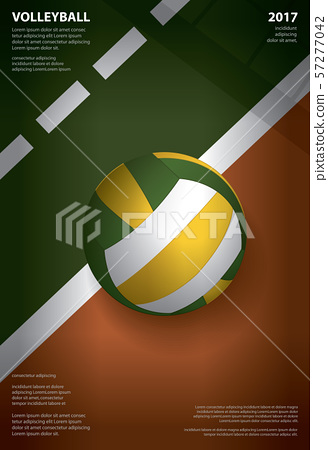 Volleyball Tournament Poster  Template Design Vector Illustration 57277042