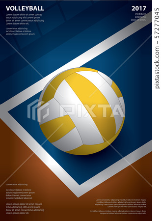 Volleyball Tournament Poster  Template Design Vector Illustration 57277045