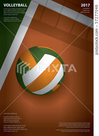 Volleyball Tournament Poster Template Design Vector Illustration 57277046