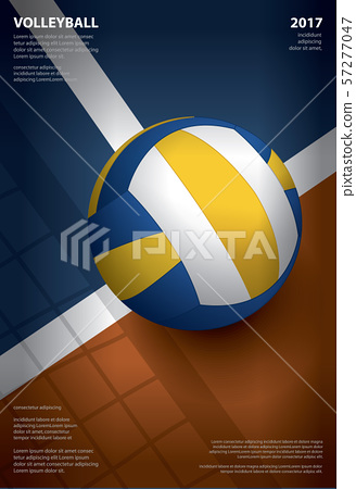 Volleyball Tournament Poster Template Design Vector Illustration 57277047