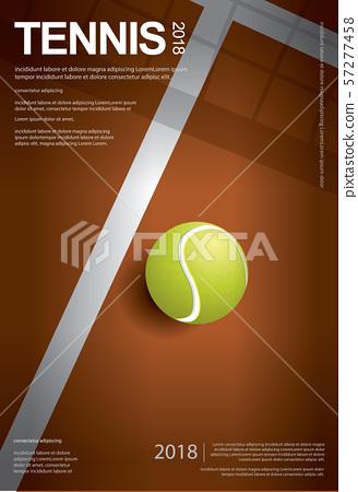 Tennis Championship Poster Vector illustration 57277458