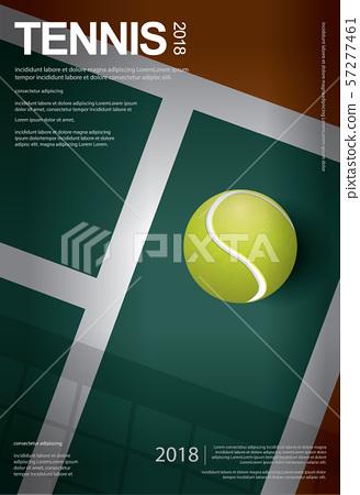 Tennis Championship Poster Vector illustration 57277461