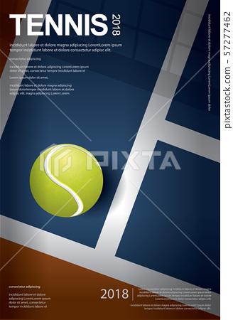 Tennis Championship Poster Vector illustration 57277462