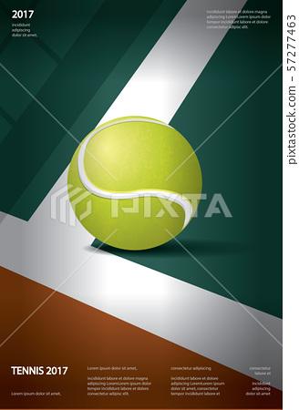 Tennis Championship Poster Vector illustration 57277463