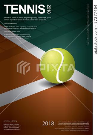 Tennis Championship Poster Vector illustration 57277464