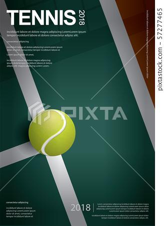 Tennis Championship Poster Vector illustration 57277465