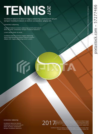 Tennis Championship Poster Vector illustration 57277466