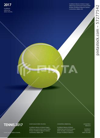 Tennis Championship Poster Vector illustration 57277542