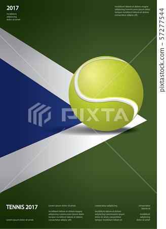Tennis Championship Poster Vector illustration 57277544