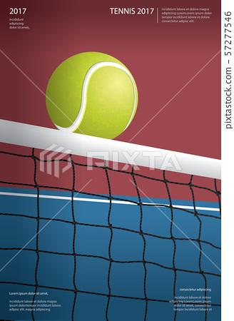 Tennis Championship Poster Vector illustration 57277546