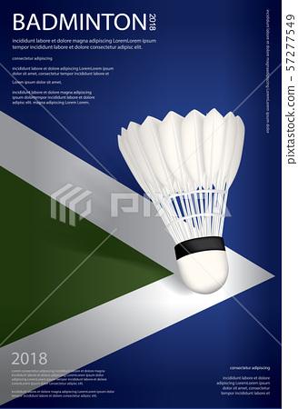 Badminton Championship Poster Vector illustration 57277549