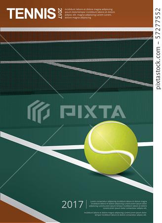 Tennis Championship Poster Vector illustration 57277552