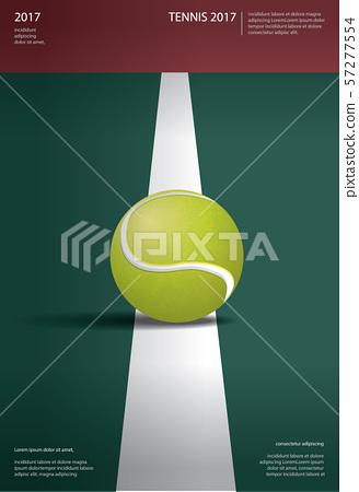 Tennis Championship Poster Vector illustration 57277554