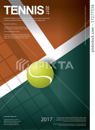 Tennis Championship Poster Vector illustration 57277556
