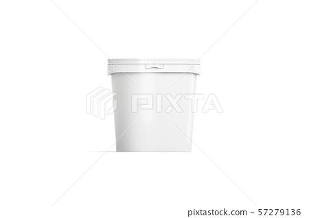 Blank white ice cream bucket mockup, front view 57279136