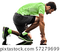 man runner running jogger jogging isolated silhouette white background 57279699
