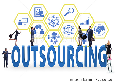 Concept of outsourcing in modern business 57280136