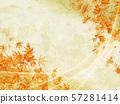 秋葉水彩樣式,閃爍的日本秋天背景 57281414