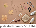 Autumn Fashion Clothes Flat lay, Leaf. Fall Outfit 57283164