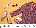 Autumn Fashion Clothes Flat lay, Leaf. Fall Outfit 57283172