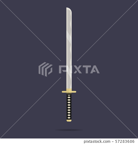 Katana sword icon. Samurai weapon. Ninja knife 57283686