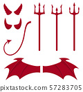 Set of devil elements isolated on white 57283705