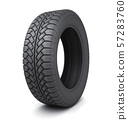 One winter tire car on white background 57283760
