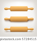rolling pin set on bright background 57284515