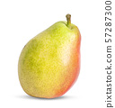 One pear isolated on white background 57287300