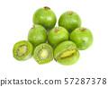 Kiwi berry isolated on white background 57287378