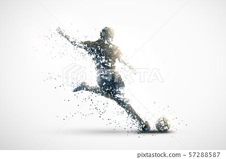 football abstract silhouette 3 vector ver. 57288587