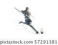 rugby abstract silhouette 4 bitmap ver. 57291381