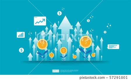 Return on investment ROI, profit opportunity 57291801