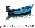 long tail boat vector 57292109