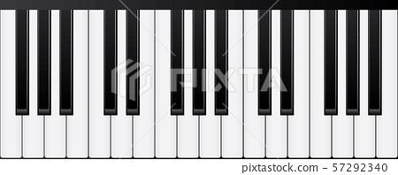 Piano keyboards. Various angles and views Vector Illustration 57292340