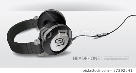 Realistic Headphones Isolated Vector Illustration 57292341