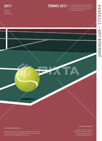 Tennis Championship Poster Vector illustration 57292644