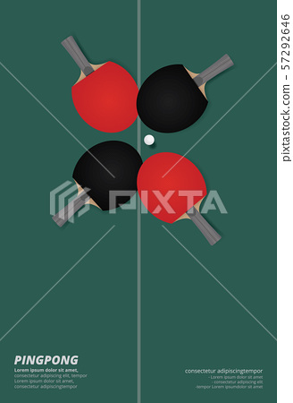 Pingpong Poster Template Vector Illustration 57292646