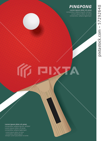Pingpong Poster Template Vector Illustration 57292648