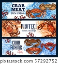 Crustaceans as seafood, crab endangered sea animal 57292752