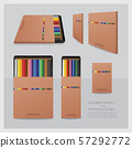 Color Pencils with Packaging Design Realistic 57292772