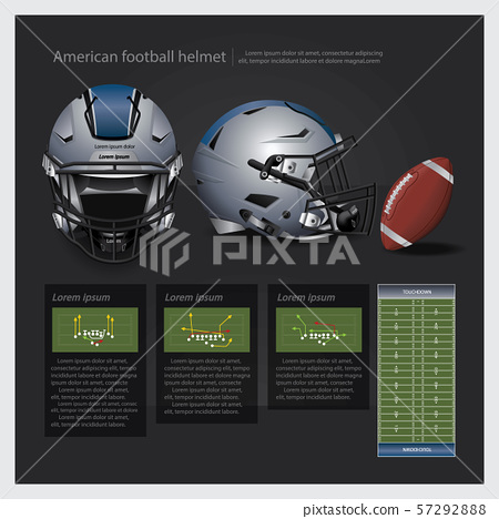 American football helmet with team plan vector illustration 57292888