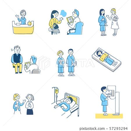 의료 이미지 세트 블루 57293294
