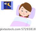 睡觉的妇女例证 57293818