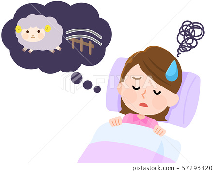失眠无法入睡的女人02麻烦计数插图 57293820