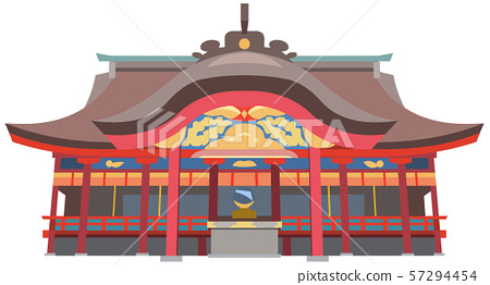 Dazaifu Tenmangu Shrine image sightseeing spot illustration icon 57294454