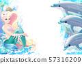 vector cartoon Sea border background 57316209