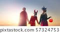 Happy girls at Halloween 57324753